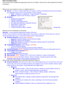 PSB 4240 - Study Guide