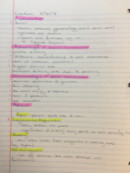 BIOL 240 - Class Notes - Week 6