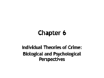 Clarion - CRJT 235 - Class Notes - Week 6