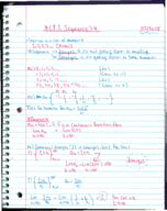 MATH 181 - Class Notes - Week 9