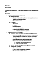 Texas A&M - BIOL 112 - Study Guide - Midterm