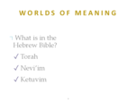 What is in the Hebrew Bible?