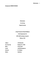 PSY 4696 - Study Guide