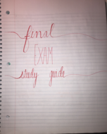 UO - HPHY 375 - Study Guide - Final