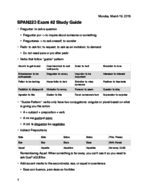 SPAN 223 - Study Guide