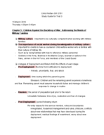 SW 3761 - Study Guide