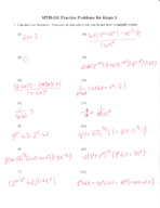 MTH 151 - Study Guide