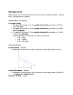 ECON 101 - Class Notes - Week 11
