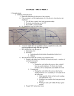 ECON - Class Notes - Week 11