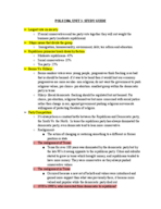 POLS 2306 - Class Notes - Week 9