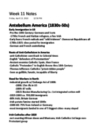 Texas State - HIST 1310257 - Class Notes - Week 11