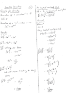 FIU - Calculus 2311 - Class Notes - Week 5
