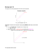 ECON 101 - Class Notes - Week 13