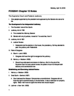 UF - POS 2041 - Class Notes - Week 15