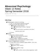 UW - PSYCHOLOGY 130 - Class Notes - Week 13