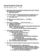 GEOS 1034 - Study Guide