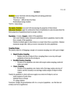 SOC 1100 - Class Notes - Week 1