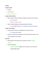 PSY - Class Notes - Week 8