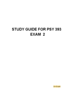 PSY 393 - Study Guide