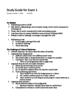 Philosophy 1304 - Study Guide