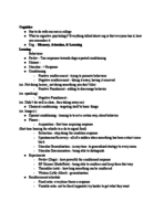 PSY 1013 - Class Notes - Week 7