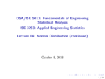 OU - ISE 3293 - Class Notes - Week 7