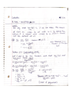 Pace - Calculus I 101 - Class Notes - Week 5