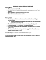 UCR - STAT 048 - Study Guide - Midterm
