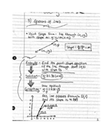 What is a point slope form in equations of lines?
