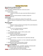 UCR - GEOL 001 - Study Guide - Midterm