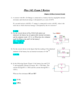 PHYS 142 - Study Guide