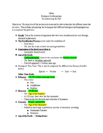 ANT 2033 - Class Notes - Week 1
