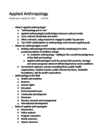 UF - ANT 2000 - Class Notes - Week 14