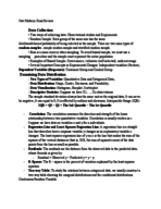 STAT 1430 - Study Guide