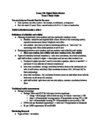 COMM 310 - Study Guide