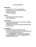 HIST 1700 - Study Guide