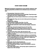 COMM 2400 - Study Guide