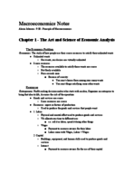 ECON 2105-01 - Class Notes - Week 3