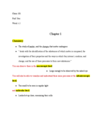 UIC - CHEM 101 - Class Notes - Week 1
