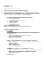PSY 1113 - Class Notes - Week 2