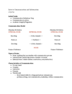 Rutgers - Intro Comm  Info 04:189:101 - Class Notes - Week 2