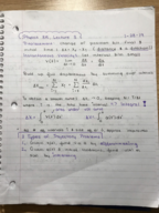 CAL - PHYSICS 8 - Class Notes - Week 2