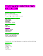 HIST 102 - Study Guide