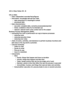 USF - BUS 308 - Class Notes - Week 3
