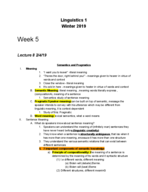 LING 1 - Class Notes - Week 5