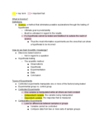 UWGB - BIO 203 - Class Notes - Week 1