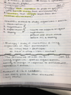 BIOL - Class Notes - Week 1