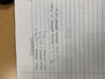 University of Hartford - M 140 - Class Notes - Week 3