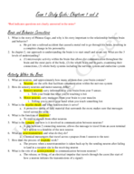 PSYC 050 - Study Guide