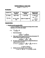 UCMerced - MATH 024 - Study Guide - Midterm